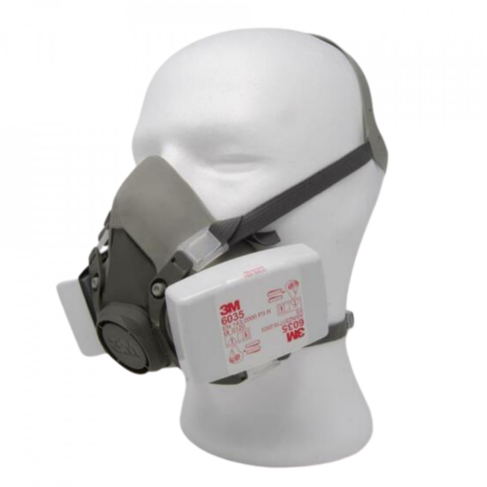 Masca 3M 6200 cu filtre FFP3/P3 protectie biologica/industriala 6038 imagine