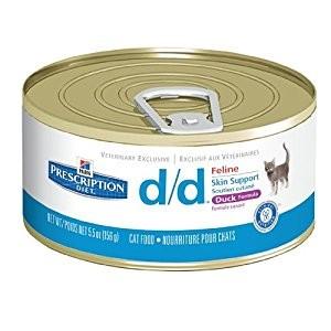 Conserva pisici Hills D/D 156g - afectiuni dermatologice