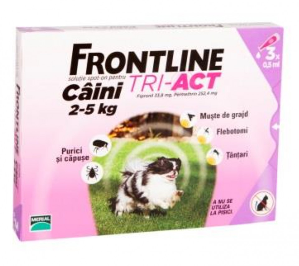 Frontline Tri-Act XS caini 2-5kg imagine