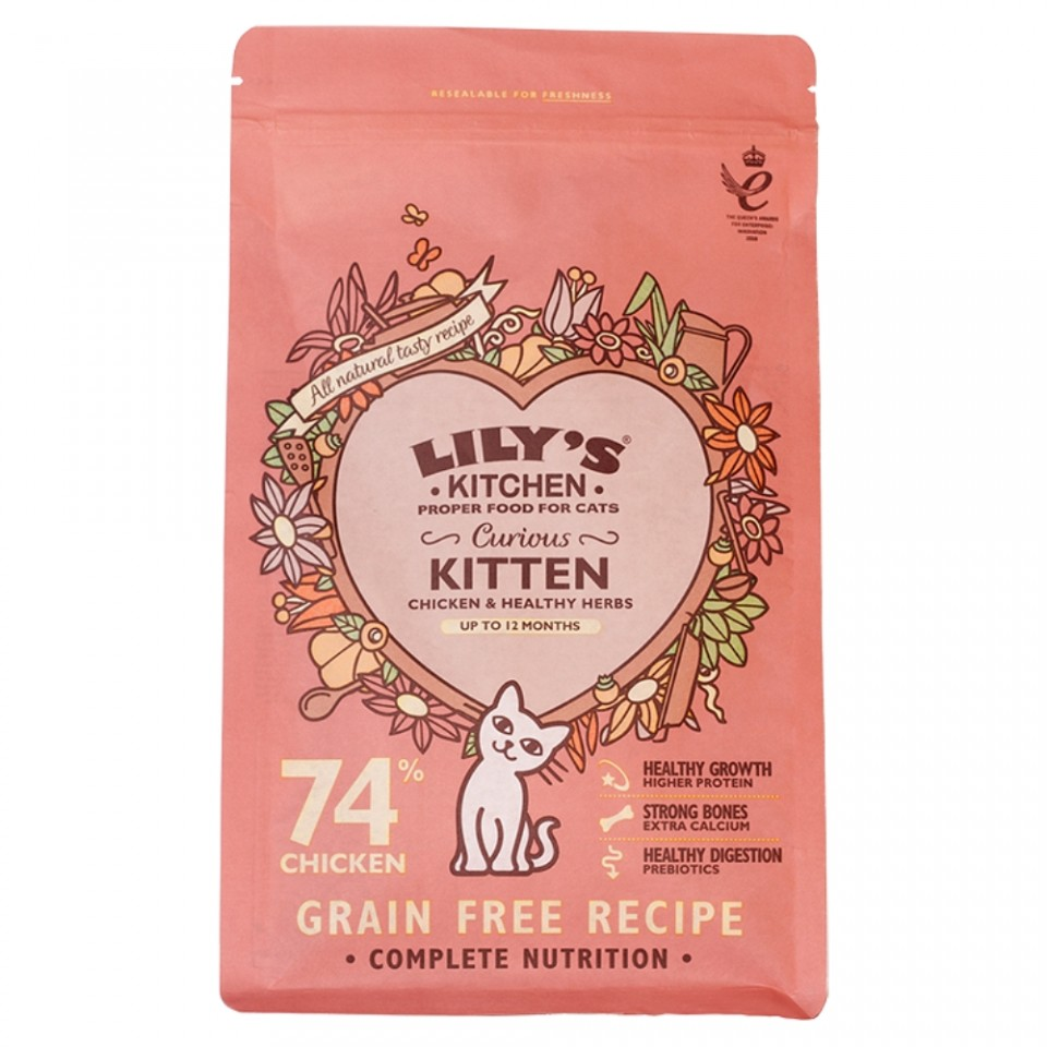 Hrana uscata pentru pisici Lily's Kitchen Curious Kitten 800g imagine