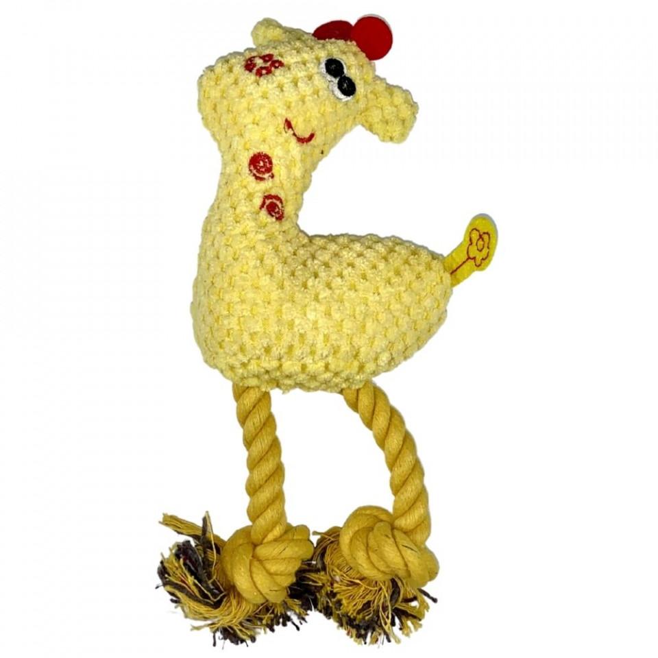 Jucarie pentru caini - Girafa galbena cu sunet imagine