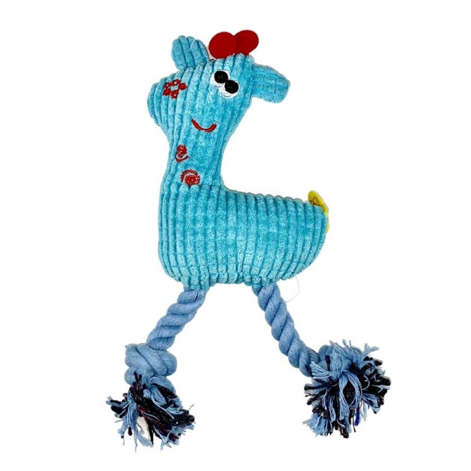 Jucarie pentru caini - Girafa albastra cu sunet imagine