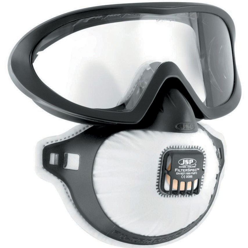 Masca FFP3 JSP FilterSpec Pro P3, cu ochelari extinsi imagine