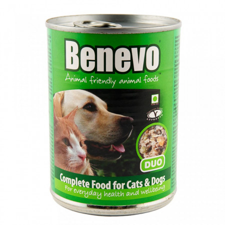 Poze Hrana umeda Benevo, ingrediene vegetariene, 369g, pentru caini si pisici