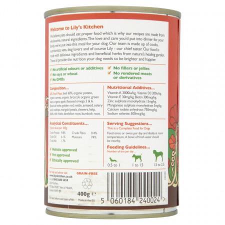 Hrana umeda pentru caini Lily's Kitchen Cottage Pie 400g