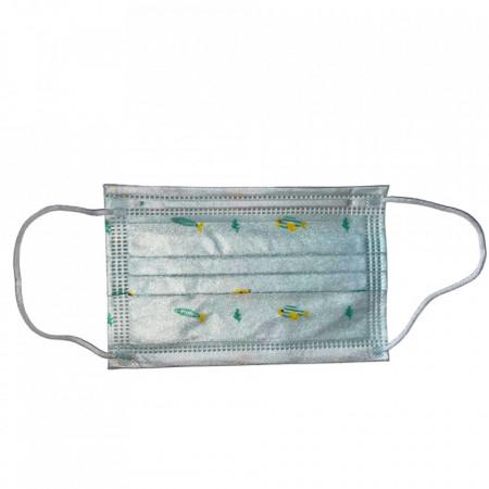 Masca igienica pentru copii, vernil, print acvatic