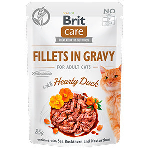Brit Care Cat Fillets in Gravy With Hearty Duck 85 g