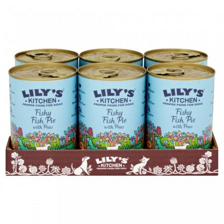 Hrana umeda Lily's Kitchen, ingrediente Naturale, cu Peste, 400g, pentru caini
