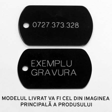 Medalion personalizat Catel Pirat Swarovski, gravare inclusa