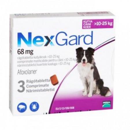Nexgard S caini 10-25kg