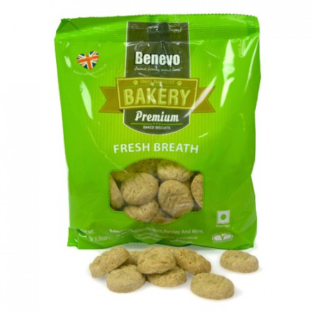 Recompense Benevo Biscuiti pentru Improspatarea Respiratiei, 250g, pentru caini