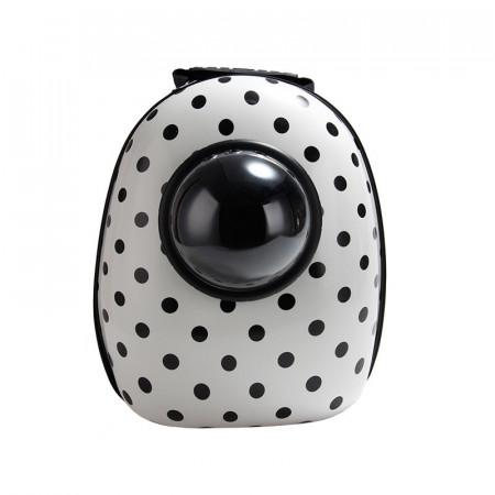 Rucsac Hublou Solid oval alb print buline negre