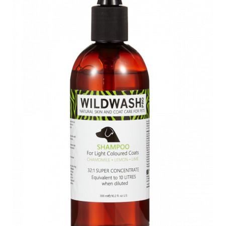 Sampon caini WildWash PRO blana deschisa la culoare 300ml