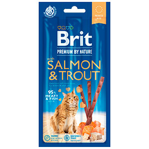 Brit Premium By Nature Cat Sticks With Salmon and Trout (3 sticks)