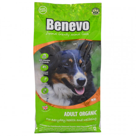 Hrana uscata vegetariana Benevo, certificata organic, 2kg, pentru caini