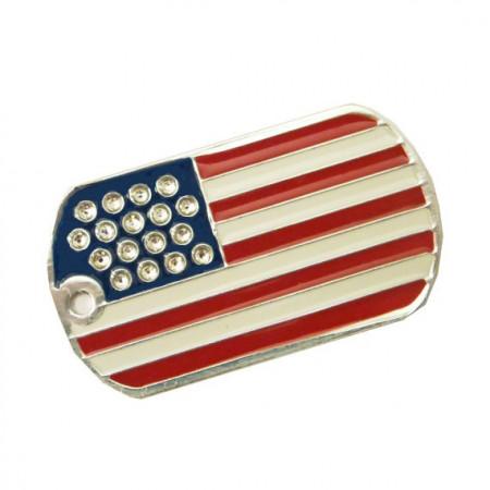 Medalion personalizat US ARMY Swarovski, gravare inclusa