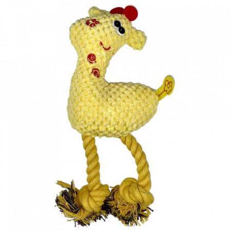 Jucarie pentru caini - Girafa galbena cu sunet