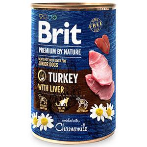 Brit Premium by Nature Junior Turkey with Liver 400 g conserva
