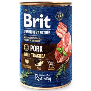 Brit Premium by Nature Pork with Trachea 400 g conserva