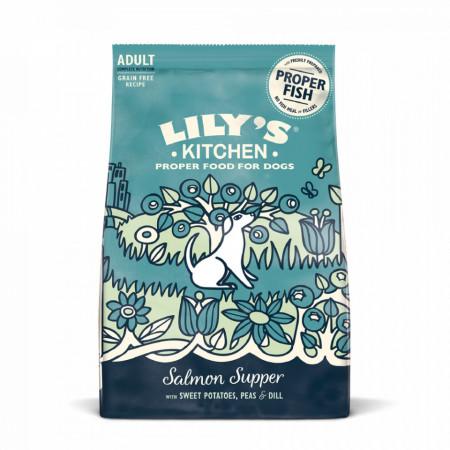 Hrana uscata pentru caini Lily's Kitchen Adult Somon 1kg