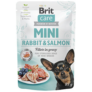 Brit Care Dog Mini Rabbit and Salmon Fillets in Gravy 85 g