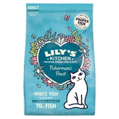 Lily's Kitchen - Fisherman's Feast - hrana uscata pentru pisici, 800g