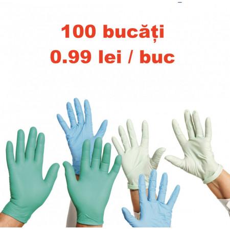 Manusi unica folosinta latex nitril vinyl 100buc