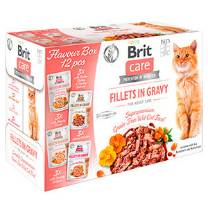 Brit Care Cat Flavour Box Fillet in Gravy (12 x 85 g)