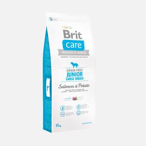 Brit Care Grain-free junior, large breed salmon and potato 12kg