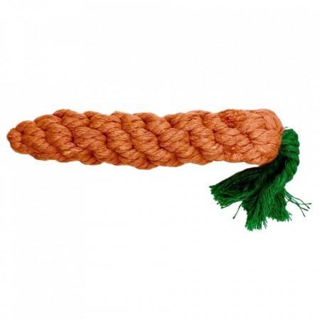 Jucarie penru caini - Morcov impletit 15cm
