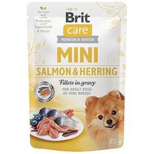Brit Care Dog Mini Salmon and Herring Sterilised Fillets in Gravy 85 g