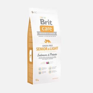 Brit Care Grain-free Senior and Light Salmon and Potato 12 kg