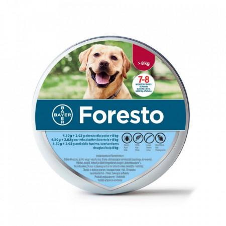 Foresto zgarda >8kg caini (70cm)