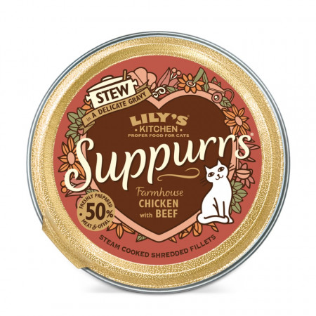 Poze Hrana umeda, Lily's Kitchen, fileuri maruntite din pui si vita, pisica, 85g