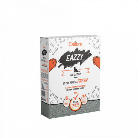 Nisip pentru pisici - Eazzy Cat Litter Ultra Fine&Fresh 6Kg