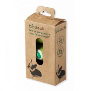 Biodeck saculeti igienici biodegradabili pentru catei