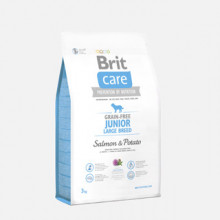 Brit Care Grain-free junior, large breed salmon and potato 3kg
