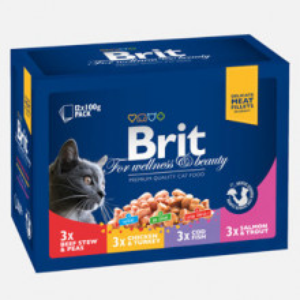 Brit Premium Cat plic Family Variety 12 x 100 gr