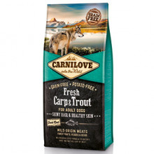 Carnilove Fresh Carp and Trout, Healthy Skin for Adult Dogs 12 kg