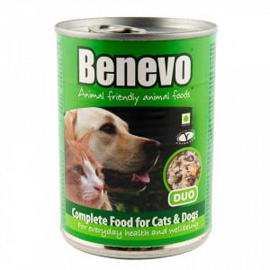 Hrana umeda Benevo, ingrediene vegetariene, 369g, pentru caini si pisici