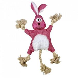 Jucarie pentru caini sau pisici - Iepure roz fosnitor