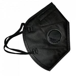 Masca color neagra, KN95 cu valva