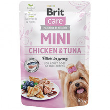 Brit Care Dog Mini Chicken and Tuna Fillets in Gravy 85 g