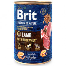 Brit Premium by Nature Lamb with Buckwheat 400 g conserva