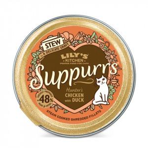 Hrana umeda, Lily's Kitchen, fileuri maruntite din pui si rata, pisici, 85g