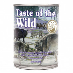 Hrana umeda Taste Of The Wild Sierra Mountain, cu miel, 390g, pentru caini