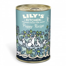Lilys Kitchen for Dogs Puppy Recipe with Turkey, Duck and Kale 400 g