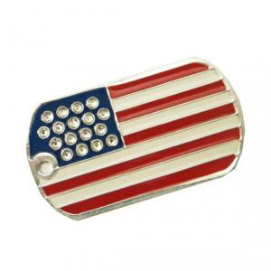 Medalion MyTag US ARMY Swarovski