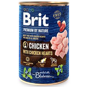 Brit Premium by Nature Chicken with Hearts 400 g conserva