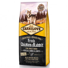 Carnilove Fresh Chicken and Rabbit, Bones and Joints for Adult Dogs 12 kg